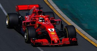 Sebastian Vettel - Ferrari - GP Australien 2018 - Melbourne - Albert Park - Freitag - 23.3.2018