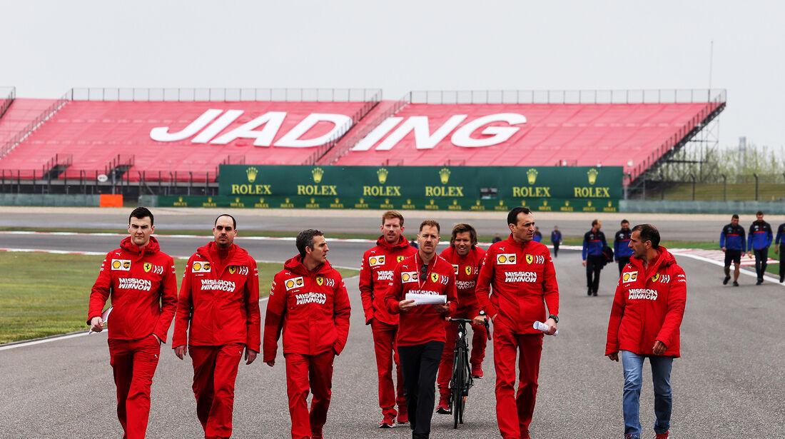 Sebastian Vettel - Ferrari - GP China - Shanghai - Formel 1 - Donnerstag - 11.4.2019