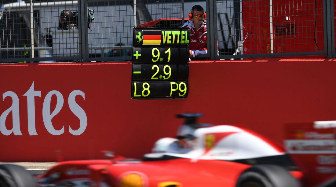 Sebastian Vettel - Ferrari - GP England 2016 - Silverstone - Rennen