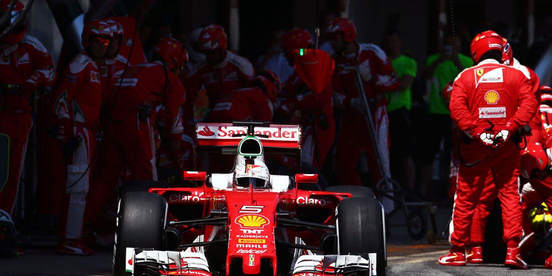 Sebastian Vettel - Ferrari - GP Spanien 2016 - Barcelona - Sonntag - 15.5.2016