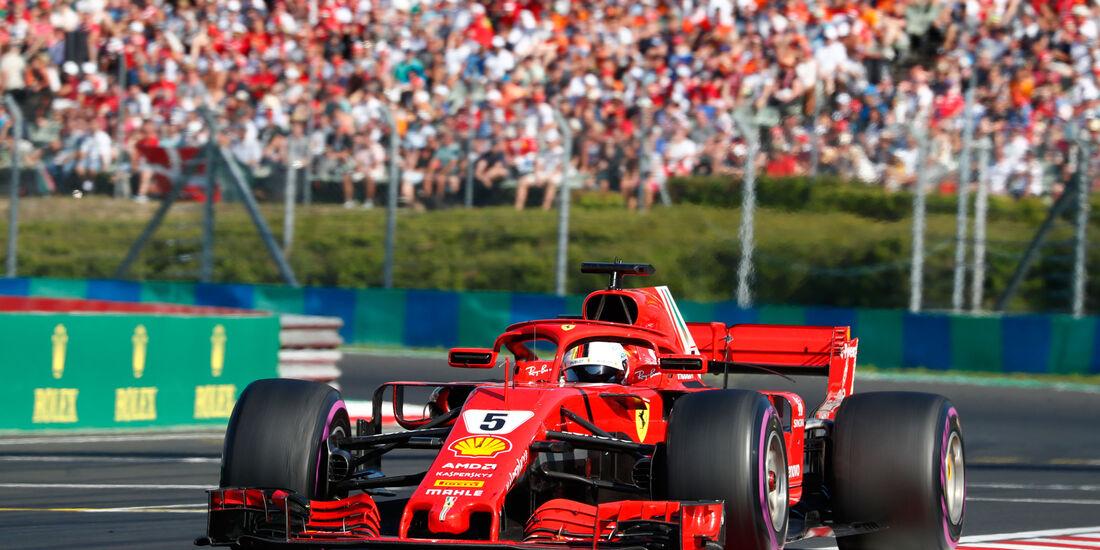 Sebastian Vettel - Ferrari - GP Ungarn 2018 - Budapest - Rennen