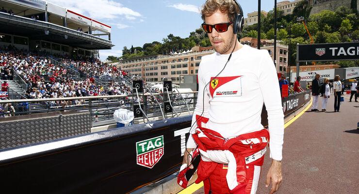 Sebastian Vettel  - Formel 1 - GP Monaco - Sonntag - 24. Mai 2015