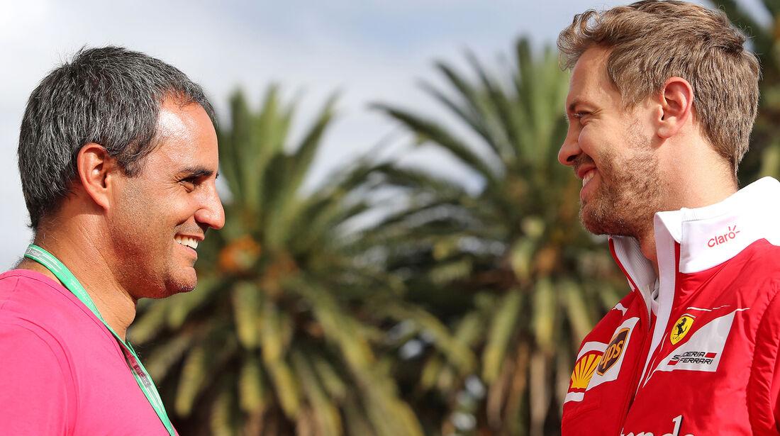 Sebastian Vettel & Juan-Pablo Montoya - GP Mexiko 2016