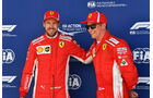 Sebastian Vettel - Kimi Räikkönen - Ferrari - GP England - Silverstone - Formel 1 - Samstag - 7.7.2018