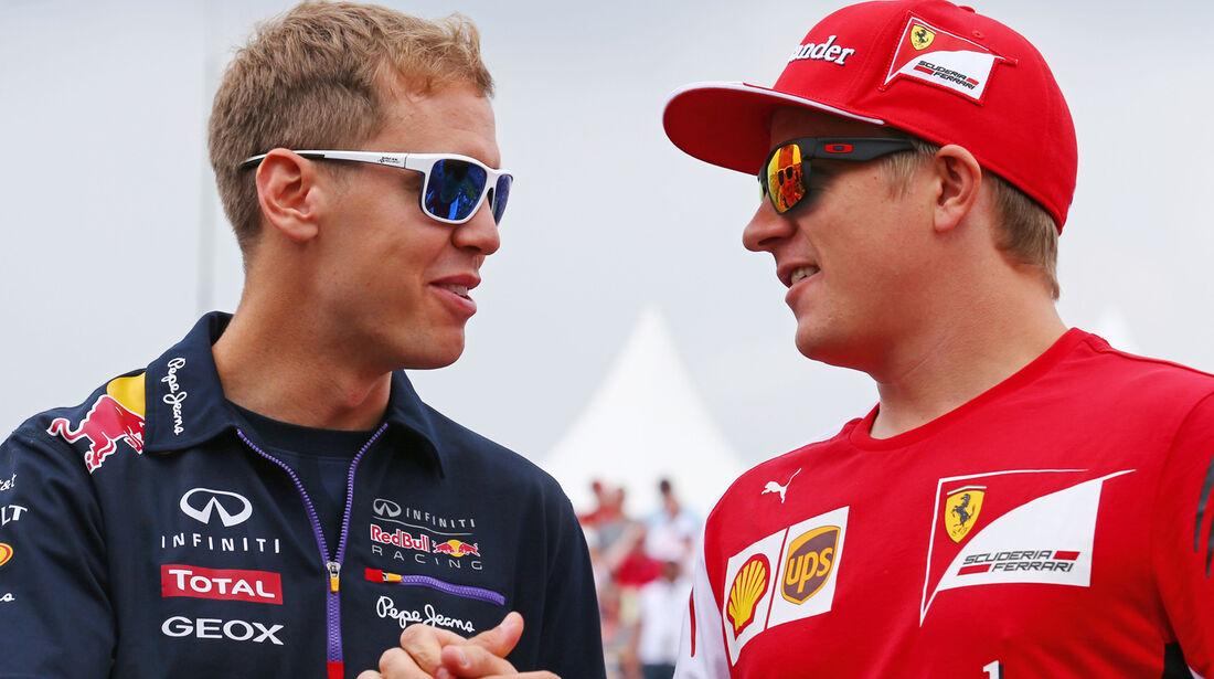 Sebastian Vettel & Kimi Räikkönen - Formel 1 2014