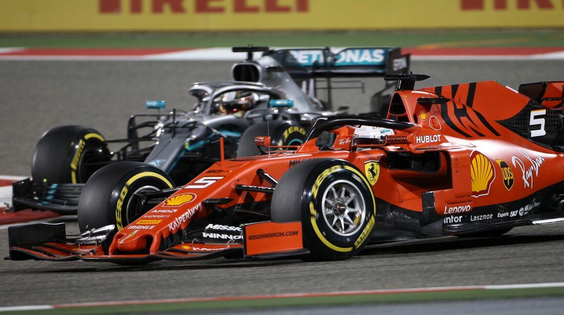 Sebastian Vettel - Lewis Hamilton - Formel 1 - GP Bahrain - 31. März 2019
