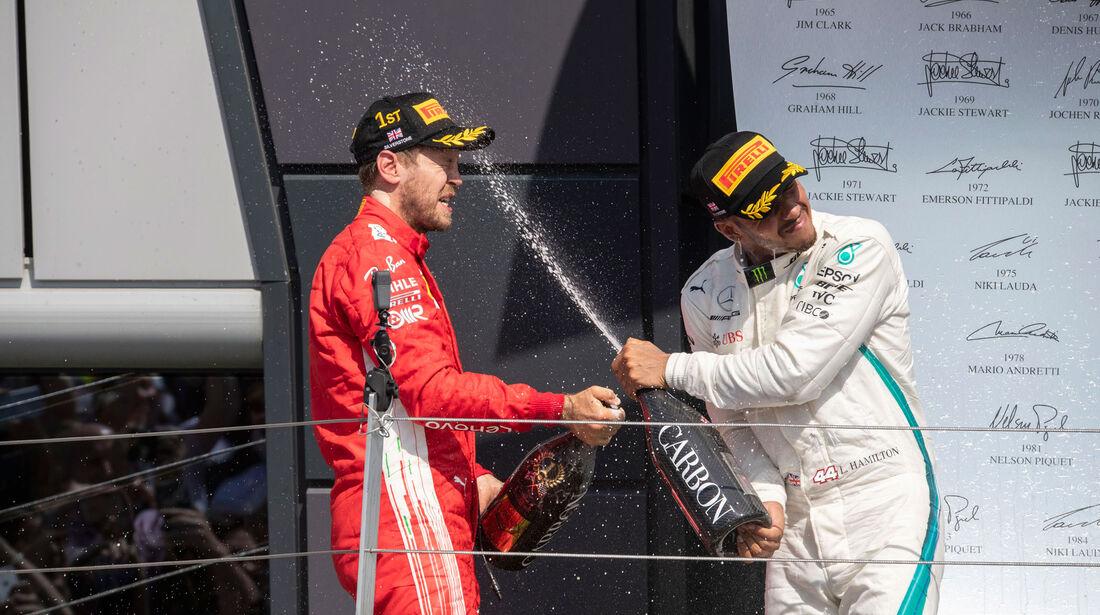 Sebastian Vettel - Lewis Hamilton - GP England 2018 - Silverstone - Rennen
