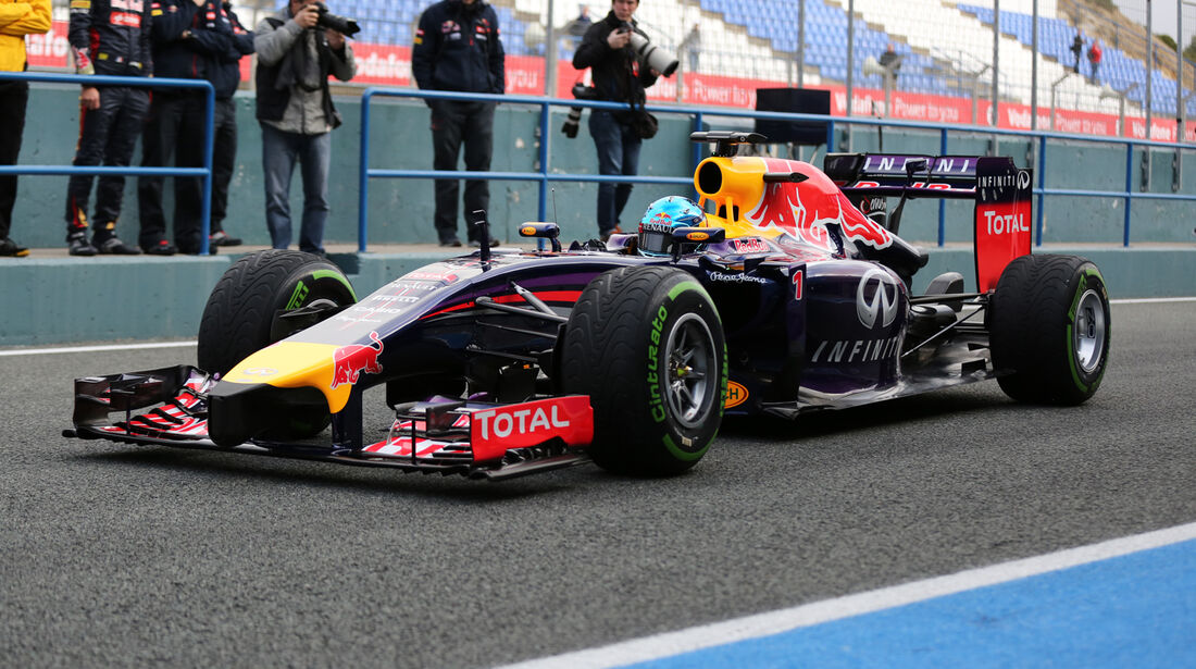 Sebastian Vettel - Red Bull - Formel 1 - Test - Jerez - 28. Januar 2014