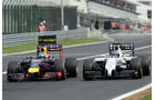 Sebastian Vettel  - Red Bull - Valtteri Bottas - Williams - Formel 1 - GP Ungarn - 27. Juli 2014