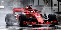Sebastian Vettel - Regen - GP Ungarn 2018