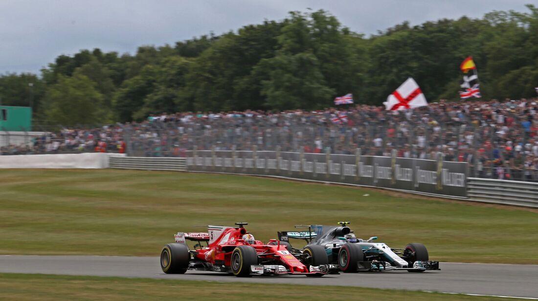 Sebastian Vettel - Valtteri Bottas - Formel 1 - GP England - 16. Juli 2017