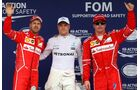 Sebastian Vettel - Valtteri Bottas - Kimi Räikkönen - Formel 1 - GP Brasilien - 11. November 2017
