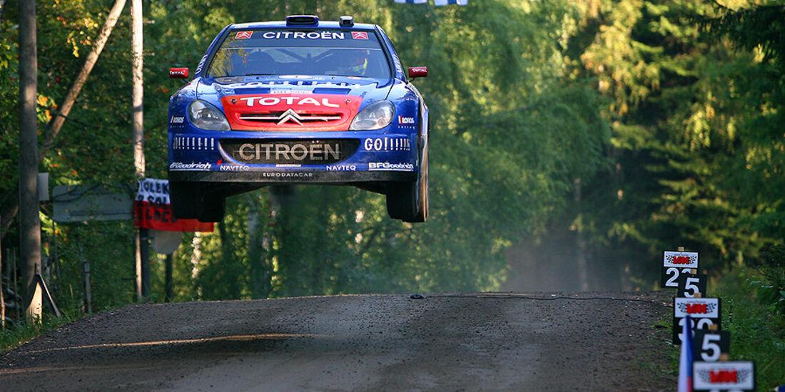 Sebastien Loeb, Rallye Finnland 2006, Rallye-Sprünge