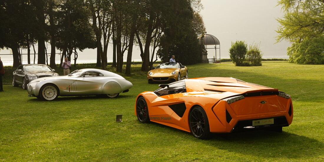 Seit 2002 nehmen auch aktuelle Concept Cars am Concorso teil - Frazer Nash Namir von Italdesign Guigiaro.