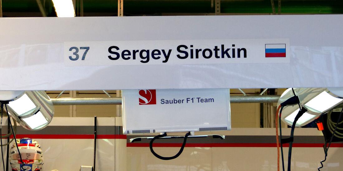 Sergey Sirotkin - Sauber - Formel 1 - GP Russland - 10. Oktober 2014