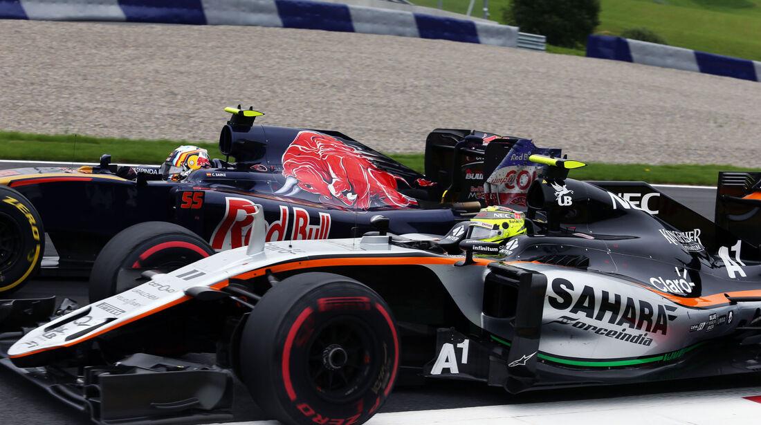 Sergio Perez - Carlos Sainz - Formel 1 - GP Österreich - 3. Juli 2016