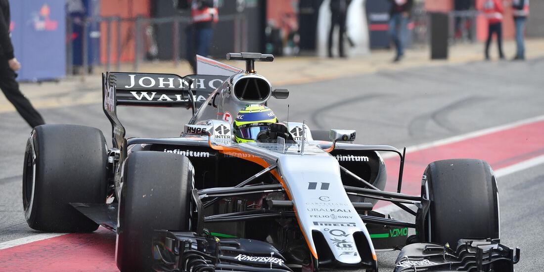 Sergio Perez - Force India - F1-Test - Barcelona - 27. Februar 2017