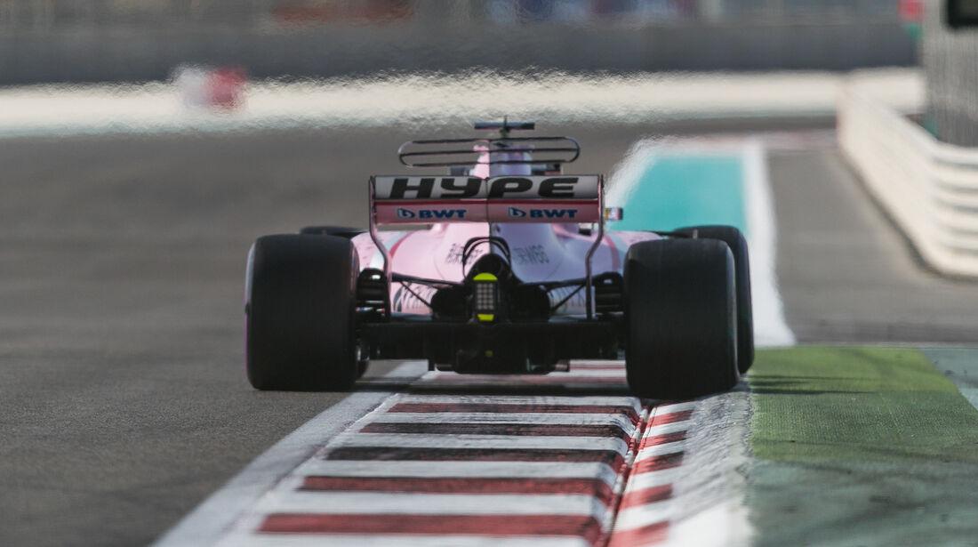Sergio Perez - Force India - Formel 1 - GP Abu Dhabi - 24. November 2017