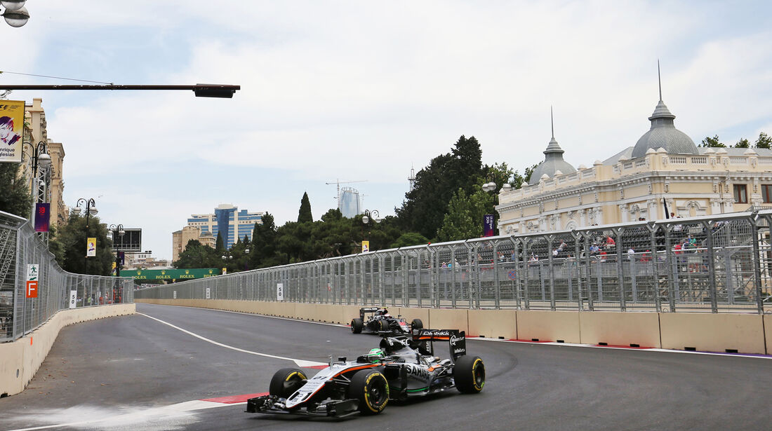 Sergio Perez - Force India - Formel 1 - GP Aserbaidschan - Baku - 17. Juni 2016