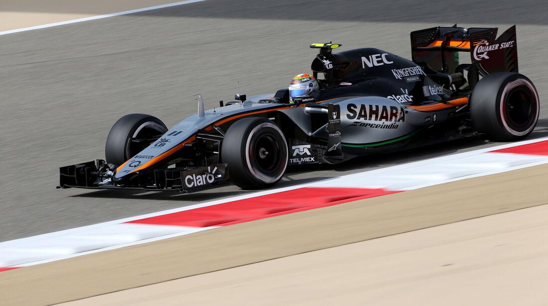 Sergio Perez - Force India - Formel 1 - GP Bahrain - 17. April 2015