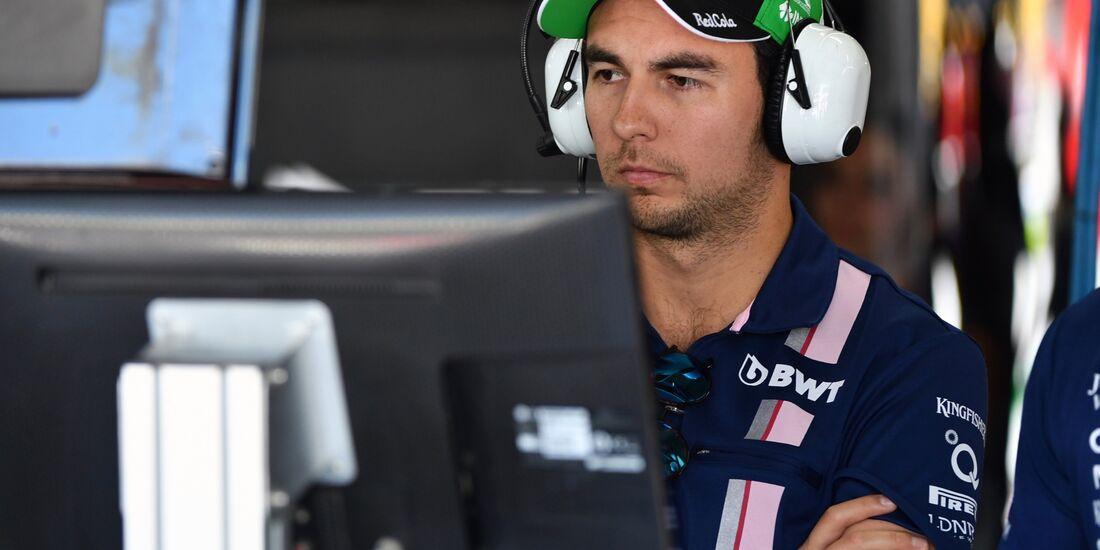 Sergio Perez - Force India - Formel 1 - GP Brasilien - 10. November 2017