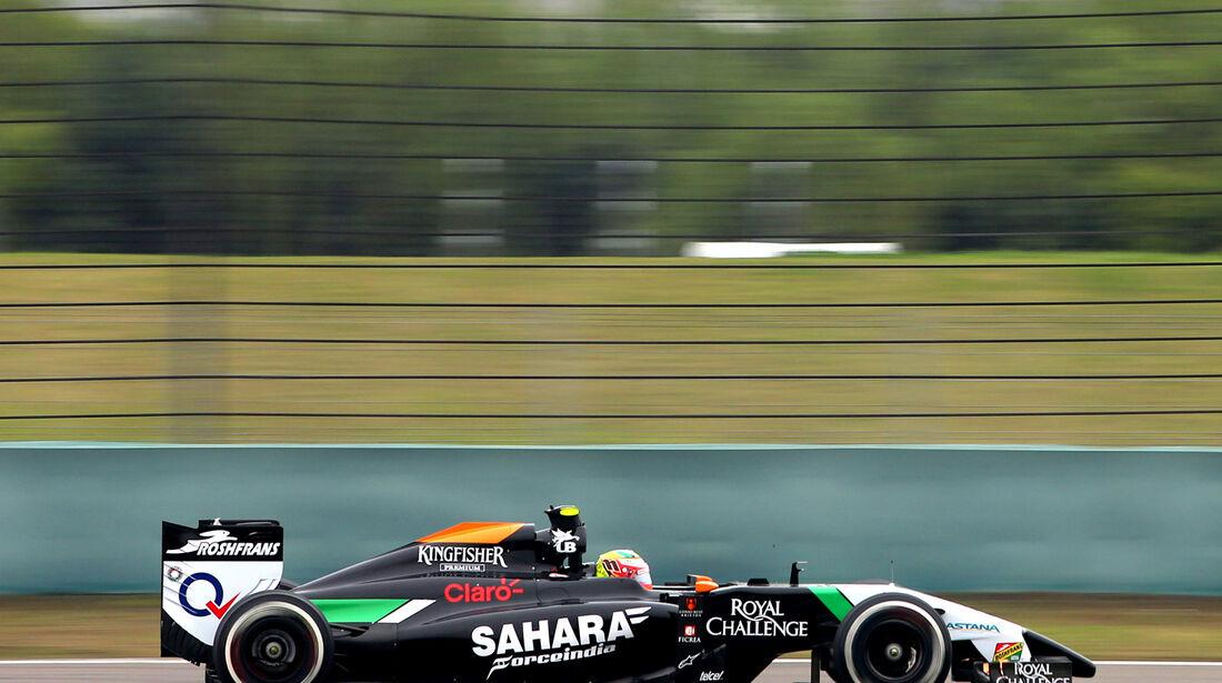 Sergio Perez - Force India - Formel 1 - GP China - Shanghai - 18. April 2014