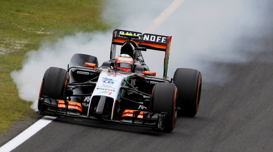 Sergio Perez - Force India - Formel 1 - GP Japan - Suzuka - 4. Oktober 2014