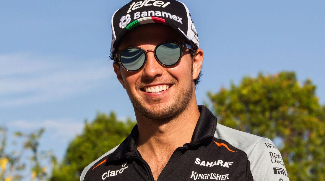 Sergio Perez - Force India - Formel 1 - GP Malaysia - Freitag - 30.9.2016