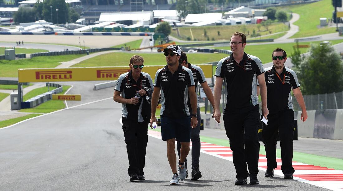 Sergio Perez - Force India - Formel 1 - GP Österreich - 30. Juni 2016