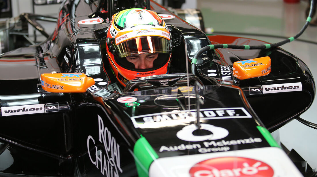 Sergio Perez - Force India - Formel 1 - GP Spanien - Barcelona - 10. Mai 2014