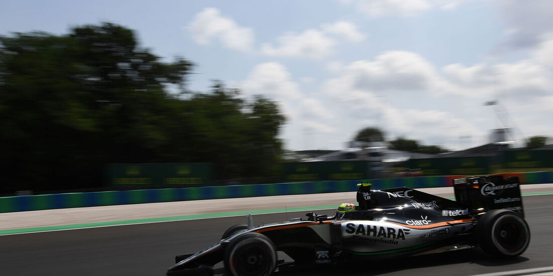Sergio Perez - Force India - Formel 1 - GP Ungarn - 23. Juli 2016