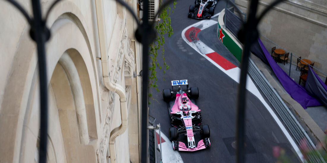 Sergio Perez - Force India - GP Aserbaidschan 2018