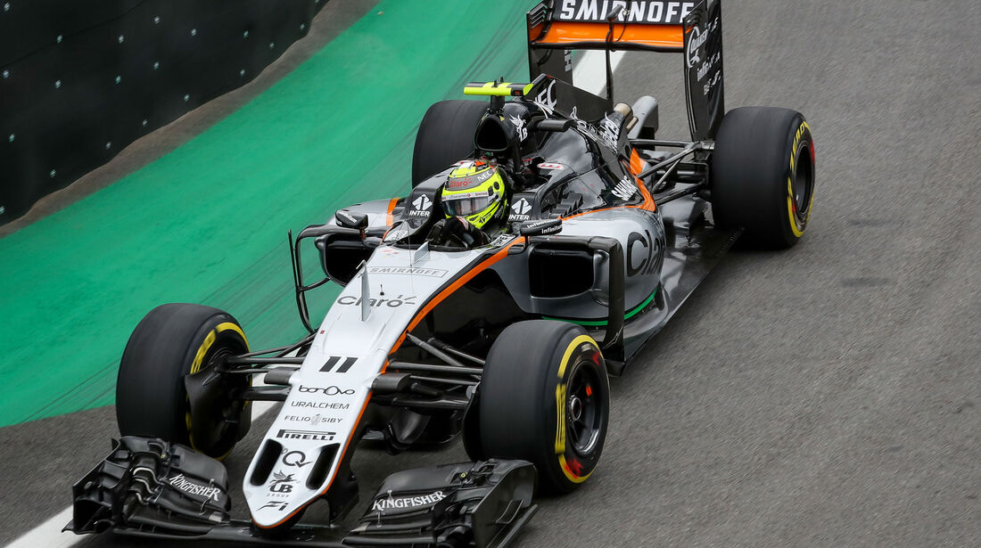 Sergio Perez - Force India - GP Brasilien 2016 - Interlagos - Qualifying