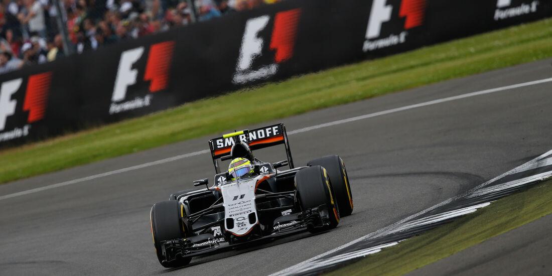 Sergio Perez - Force India - GP England - Silverstone - Qualifying - Samstag - 9.7.2016