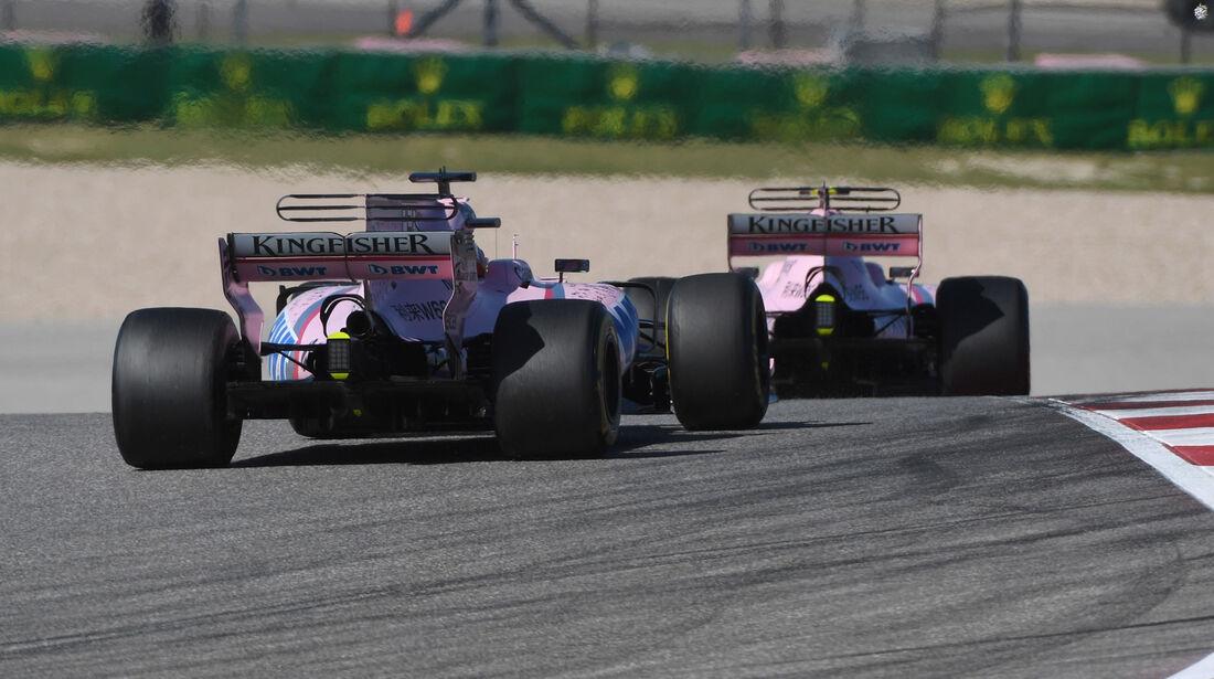 Sergio Perez - Force India - GP USA 2017 - Rennen