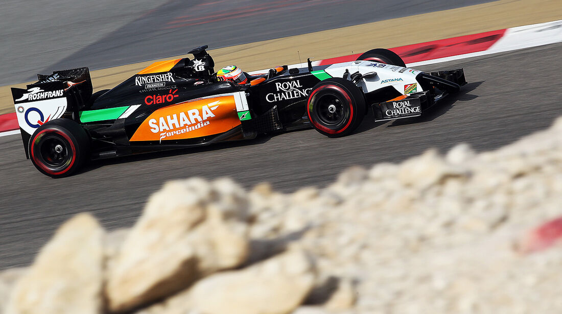 Sergio Perez - Force India - Test - Bahrain - 27. Februar 2014