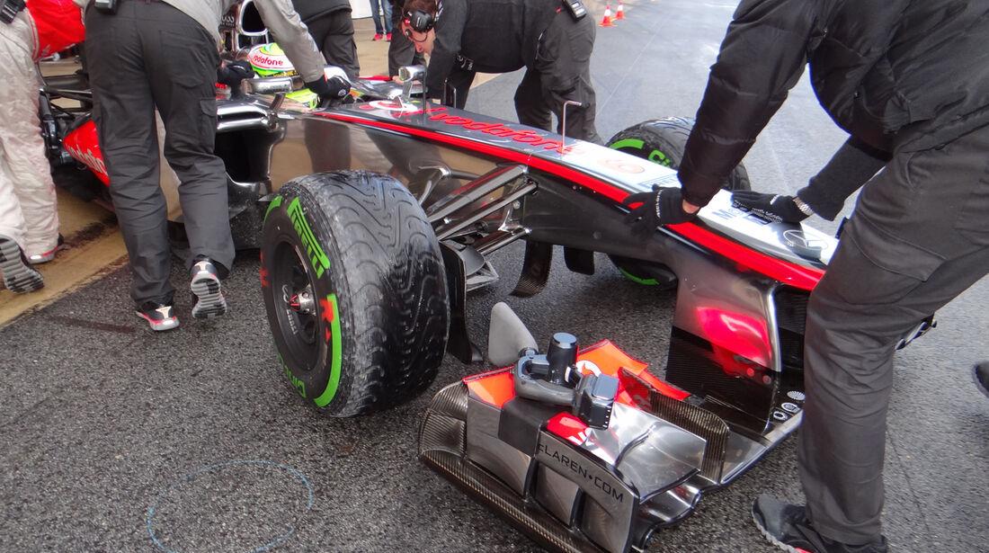 Sergio Perez - McLaren - Formel 1 - Test - Barcelona - 28. Februar 2013