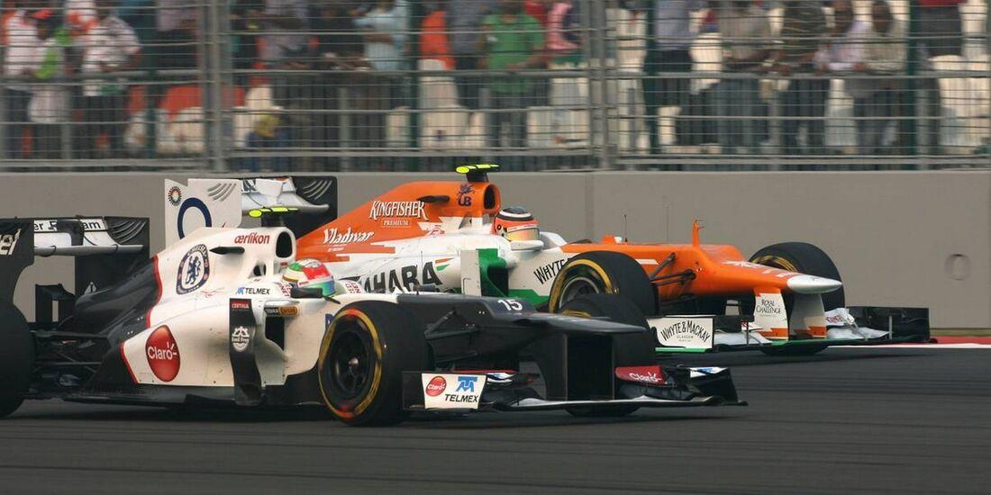 Sergio Perez - Nico Hülkenberg - Formel 1 - GP Indien - 28. Oktober 2012