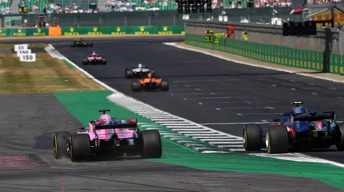 Sergio Perez - Pierre Gasly - GP England 2018 - Silverstone - Rennen