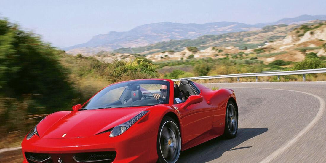 Serienfahrzeuge Cabrios über 130 000 € - Ferrari 458 Spider