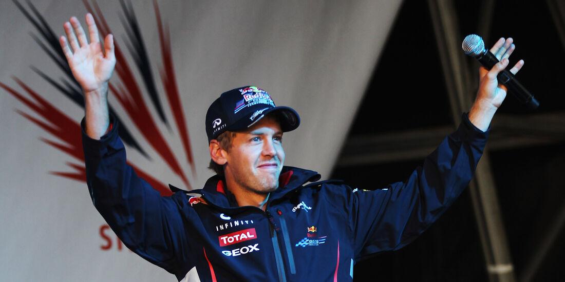 Silverstone Party Vettel Formel 1 2012 GP England