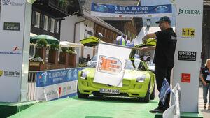 Silvretta E-Auto 2015, Start und Mittagspause Tag 2