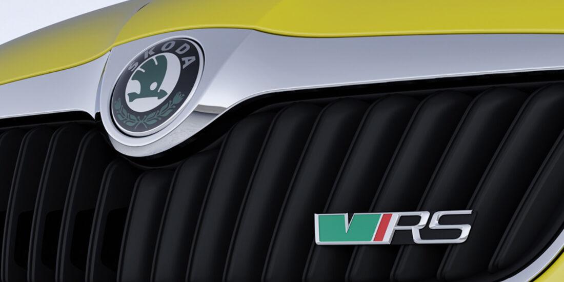 Skoda Fabia RS, Kühlergrill mit Logo