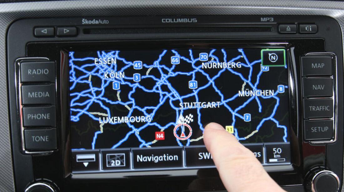 Skoda Octavia Kaufberatung, Navigationssystem Columbus