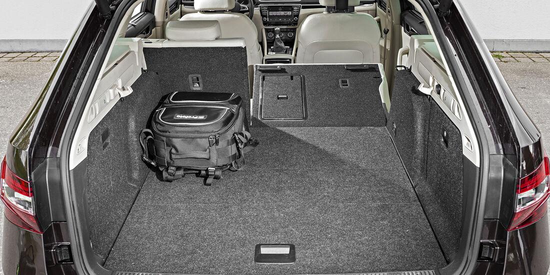 Skoda Superb Combi 2.0 TDI 4x4, Interieur, Kofferraum
