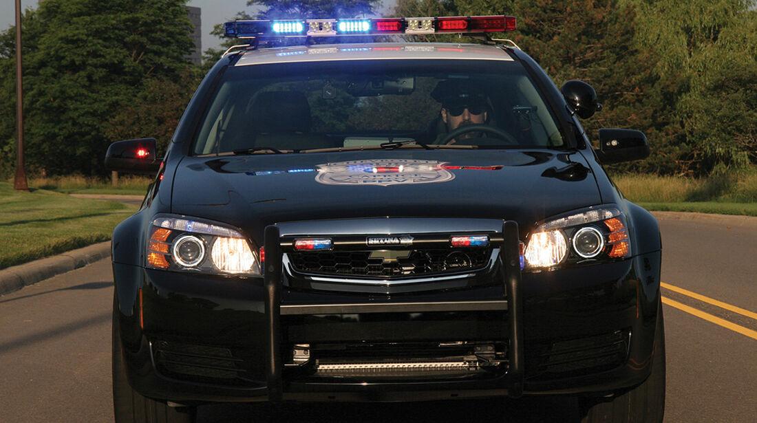 Skurrile Polizeiautos, Chevrolet Caprice Police Patrol Vehicle, Streifenwagen