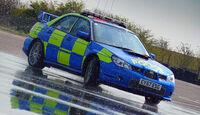 Skurrile Polizeiautos, Streifenwagen, Subaru Impreza WRC STi, Drift