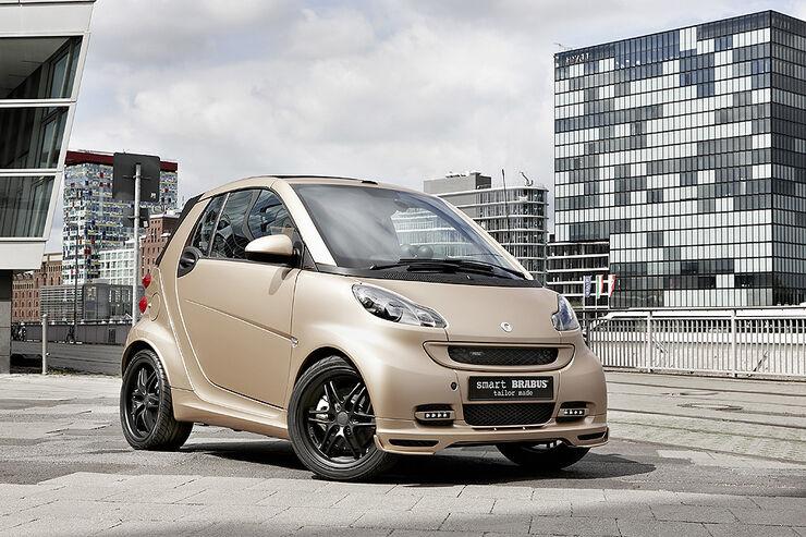 smart brabus wesc auf der iaa goldenes cabrio und kopfh rer auto motor und sport. Black Bedroom Furniture Sets. Home Design Ideas