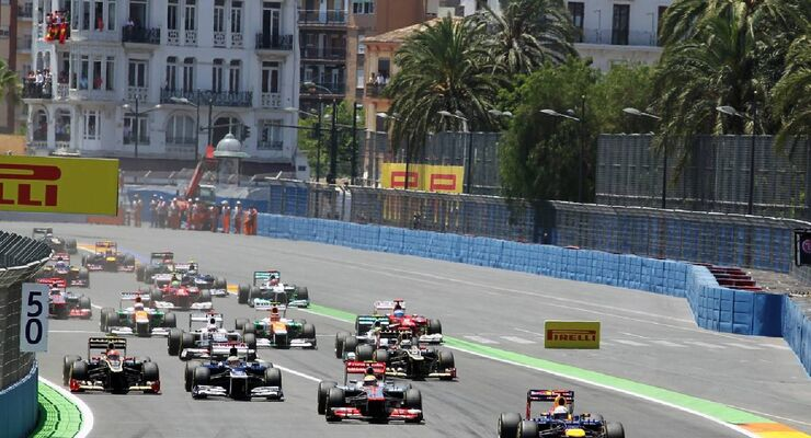 Start  - Formel 1 - GP Europa - 24. Juni 2012