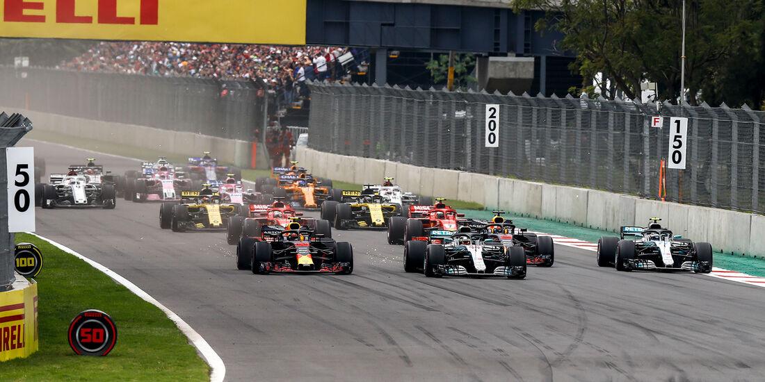 Start - Formel 1 - GP Mexiko 2018